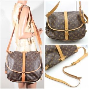 🎈💃Louis Vuitton Saumur 35 Crossbody shoulder Bag